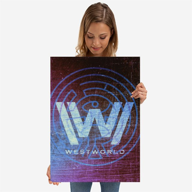 All Star Promo - Use code: ALLSTAR  Buy 3-4 get 15% OFF | 5+ 20% OFF. Westworld Poster. #sale #sales #scifi #poster #discount #posters #gifts #giftideas #homegifts #39 #wallart #livingroom #decoration #home #homedecor #cool #awesome #posters #giftsforhim #giftsforher #tvshow #robots #fandom #robot #purple #blue #westworldposter #west #western #fandom #geek #nerd #displate