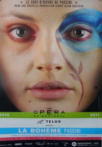 2010 Contemporary Opera De Montreal Poster, La Boheme - Montplaisir + Pelletier