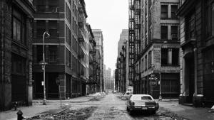 Nach dem Schnee: Crosby Street, Soho, New York, 1978.