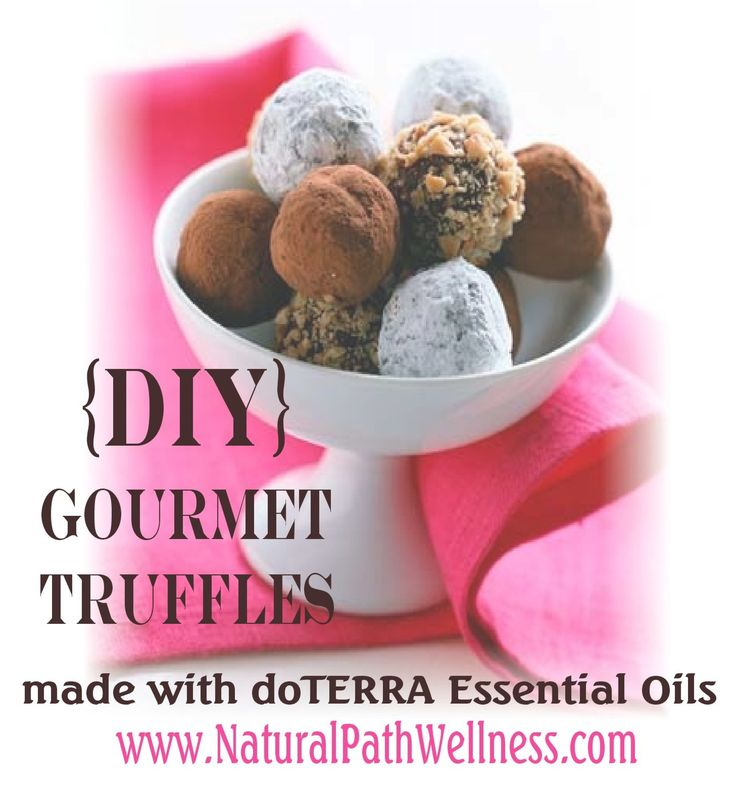 DIY Gourmet Truffles made with doTERRA essential oils
