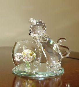 Swarovski Crystal Figurines | Swarovski Crystal World Figurine Curious Cat Retired Estate | eBay