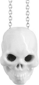 Patrik Muff for Nymphenburg - Skull glazed porcelain pendant