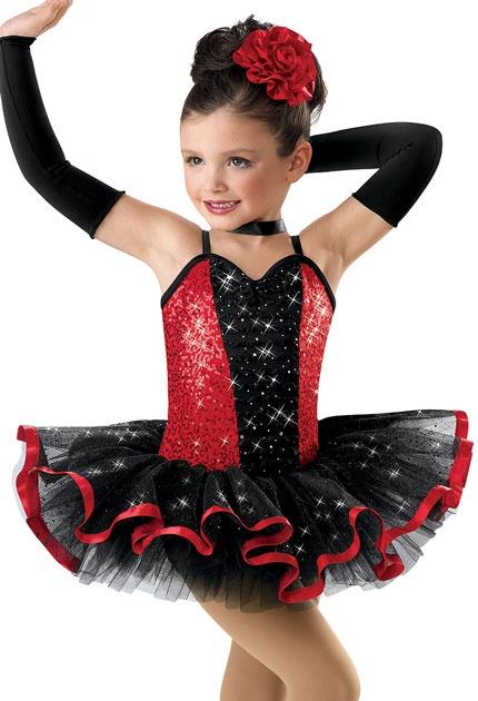 Sequined Satin Ribbon Tutu Dress; Weissman Costume