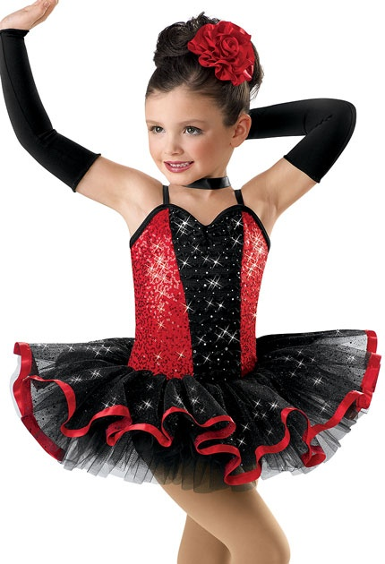 Sequined Satin Ribbon Tutu Dress; Weissman Costume