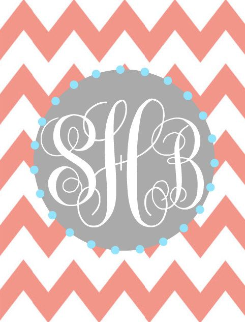 Monogram binder cover insert or frame insert by ThePaperPug, $4.00