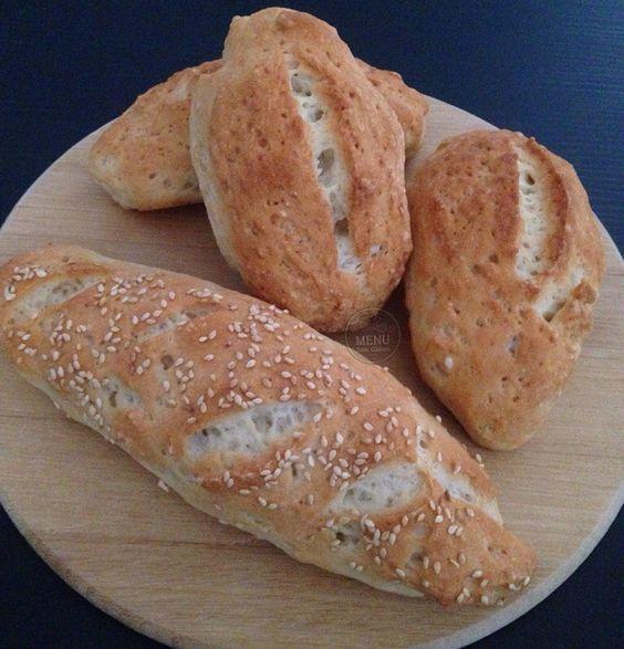 Menu sem Glúten - Receita de Pão tipo Francês sem glúten e sem lactose