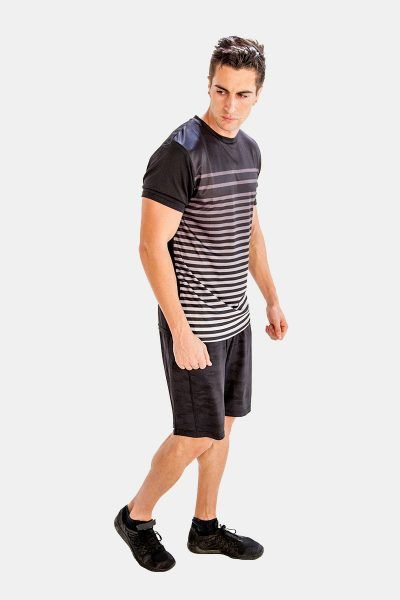 Mens Black and White Striped #Tee #Shirts