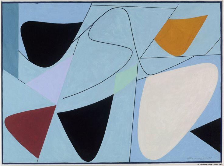 Göran Augustson: Saaristovalssi, 1975, guassi pahville, 58x70 cm - Kansallisgalleria