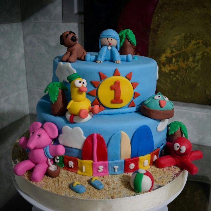 Torta Pocoyó Diseño en Fondant