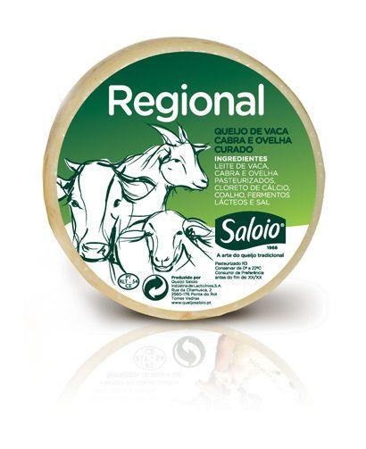 Queijo Saloio - Producido a partir de las tres leches - vaca, cabra y oveja pasteurizada - Queso Saloio Regional tiene todo el sabor tradicional de un buen queso de la región portuguesa.