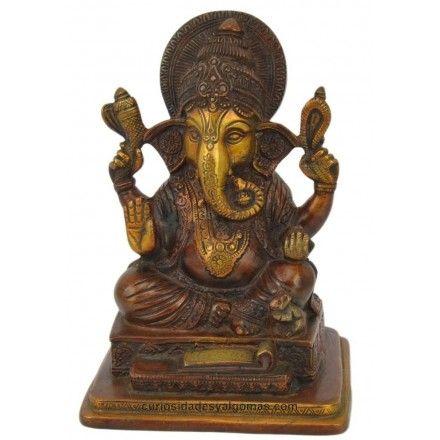 Figura del Dios Ganesha en Bronce, importada de India.