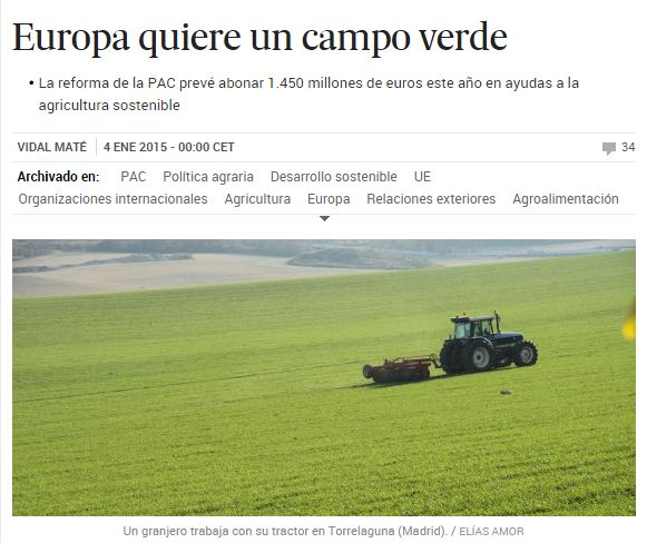 Europa quiere un campo verde / @el_pais | #readyforsustainability