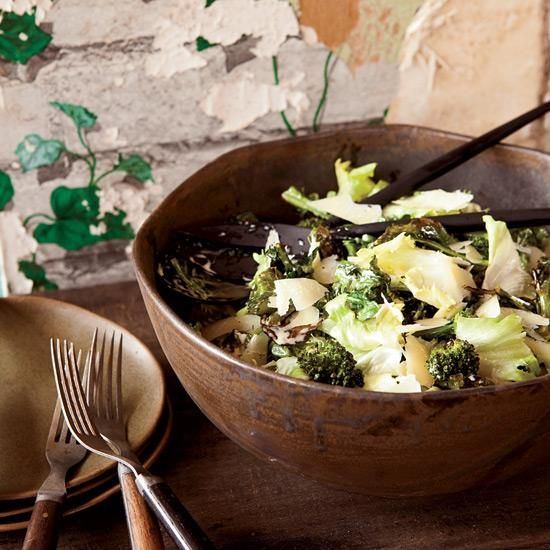 Escarole and Roasted Broccoli Salad with Anchovy Dressing   Chris ...
