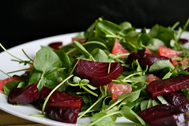 ... red rocks in january and a winter citrus salad (beets, grapefruit and
