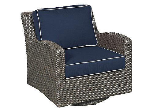 Create a cozy, comfortable space in your backyard or patio with the Elegance outdoor swivel glider chair. The curvaceous arms and transitional design combine with a rich, variegated Aspen weave for show-stopping appeal. The Elegance outdoor swivel glider chair features a lightweight, yet sturdy commercial-grade aluminum frame, suspension supports under the seat, and plush cushioning in your choice of premium Sunbrella fabric.