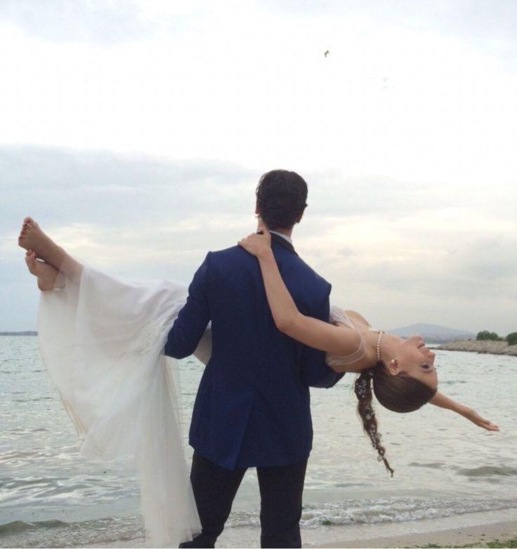 Wedding time!!! :) med-cezir Yaman ve Mira evlendi ❤️ Çağatay Ulusoy ve Serenay Sarıkaya