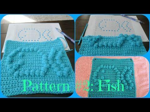 Crochet Bobble Stitch: Fish Emoji - YouTube