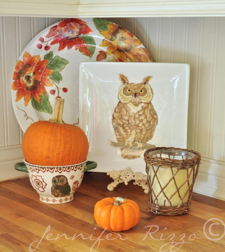 Kitchen Decor For Fall: Woodland Creatures, Fall Wreaths And Owl Wreaths