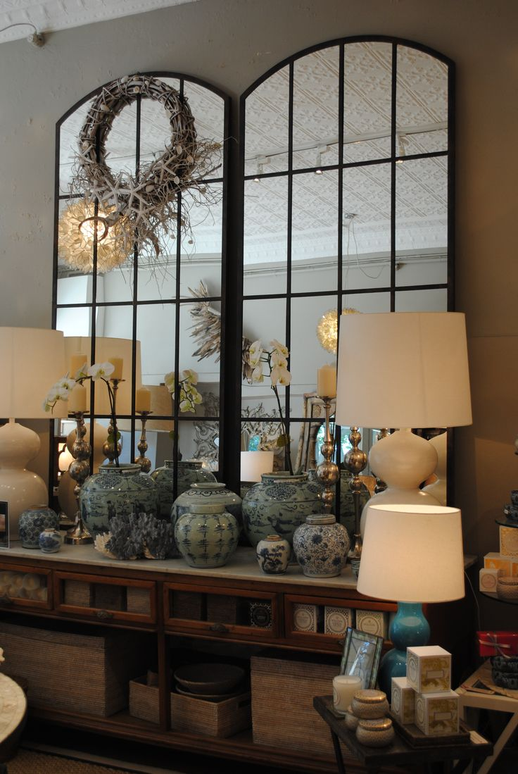 mirrors to Reflect the light and make the room look grand.