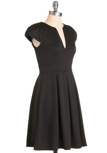 Meet Me At the Punch Bowl Dress in Noir   Mod Retro Vintage Dresses   ModCloth.com