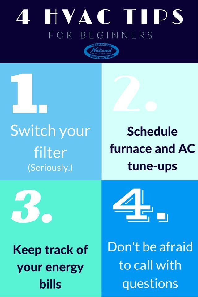 Hvac Tips For Beginners Infographic Hvactips Beginners