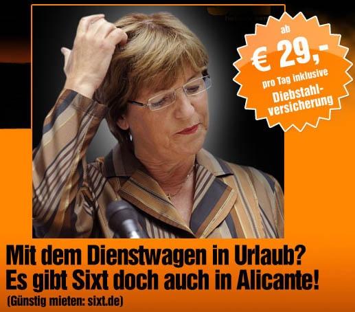 Sixt nach der Dienstwagenaffäre von Ulla Schmidt...