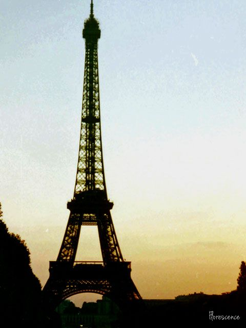 Sunset, Eiffel Tower, Paris, 1993