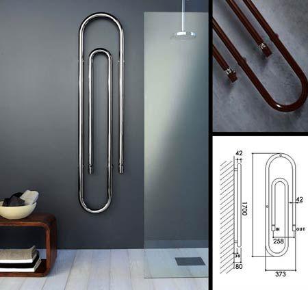 Vertical Clip Designer Heating Radiator (58L)