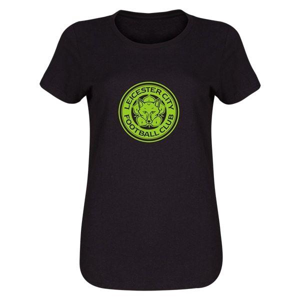 Leicester City FC Womens Short Sleeve T-Shirt (Black)