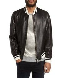Slate & Stone Leather Bomber Jacket
