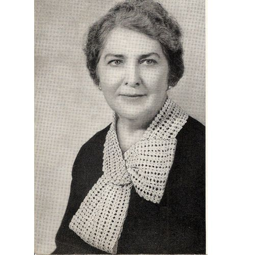 Vintage Crochet Shell Scarf Collar Pattern