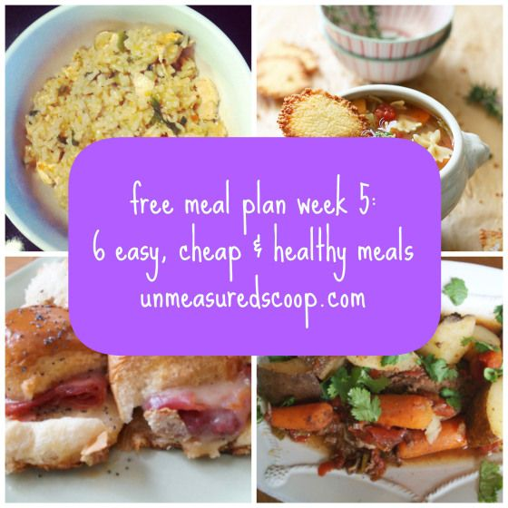 Cheap and healthy meal plan