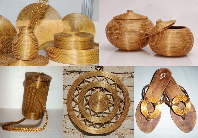 artesanato com capim dourado