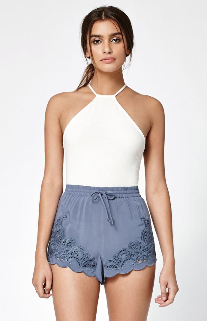 Appliqué Soft Shorts