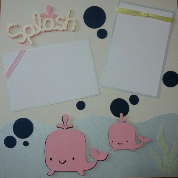 Baby's First Bath Scrapbook Pages - Baby Girl  https://www.etsy.com/listing/197557187/baby-girl-first-bath-time-scrapbook?