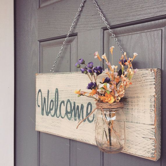 Welcome, Outdoor Decor, Home Decor, Wooden Signs, Rustic Signs, Wooden House Signs, Wood Signs, Housewarming, Gifts, Personalized Signs  - Size is