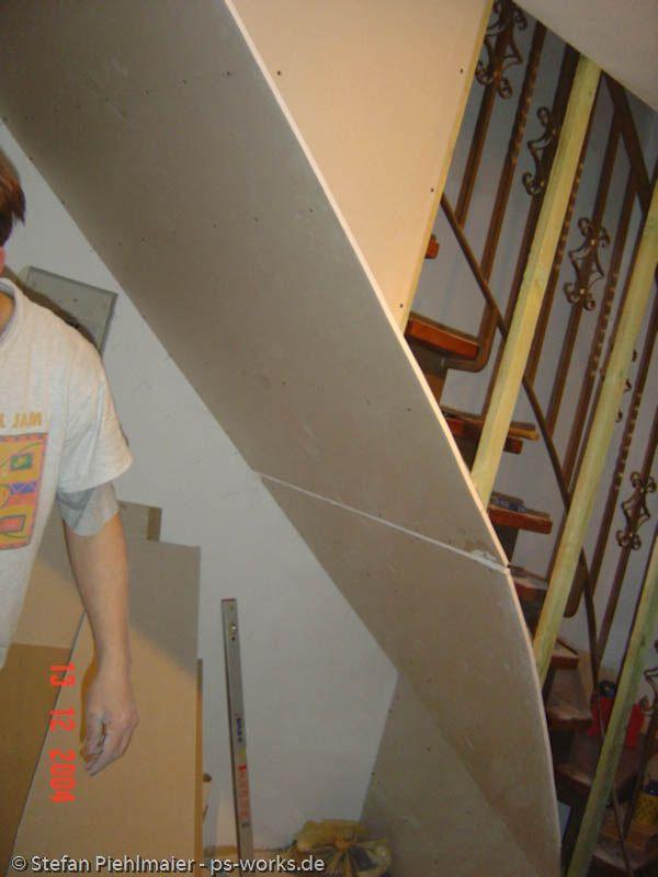 Verkleidung einer offenen Treppe