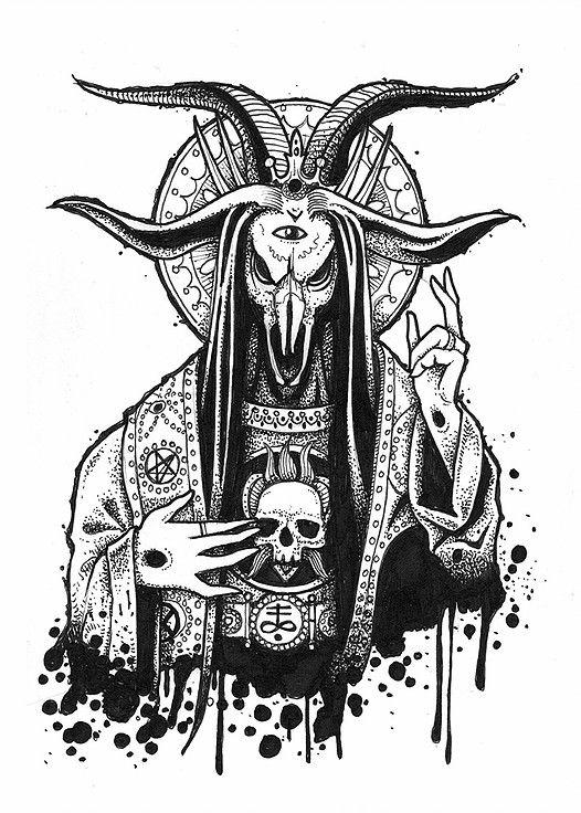 Wican pagan devil evil satan demon demonolgie demonolgy sorcellerie witch witchcraft - Dessin de demon ...