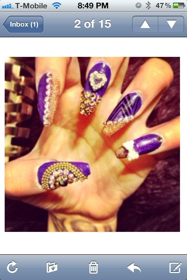 Photos for Blue Diamond Nails | Yelp | Nail art | Pinterest