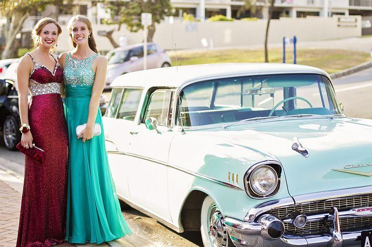 #formal #vintagecar #friendship #colour #prom #clutchbag #formalwear #happy #beauty #reddress #bluedress