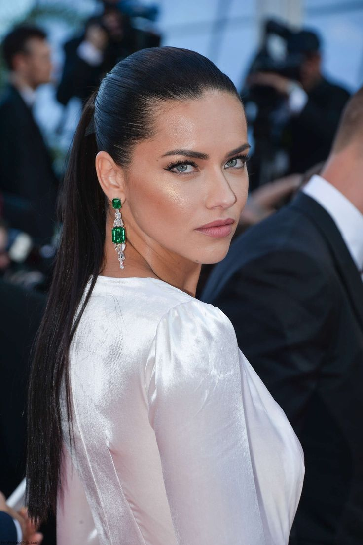 "gorgeous adriana lima wearing chopard earrings at the ""loving"