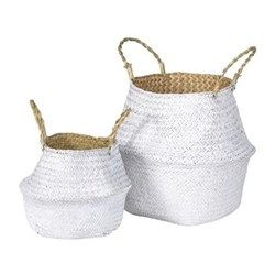 A pair of baskets 23 x 27 / 36 x 38cm. Home decor | home gifts | home ideas | home interior | wedding gifts | Weddings | wedding ideas | wedding gift | wedding gifts for bride and groom | wedding gift ideas | wedding gift for couple | wedding presents | unique wedding gifts | wedding present ideas | wedding presents for couples | wedding gift list | bride | groom | wedding planning | wedding blog | inspiration | gift idea | the wedding shop!
