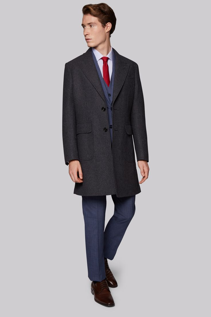 Hardy Amies Tailored Fit Charcoal Wool Overcoat Embrace the seasons chilly days by making this strategic addition to your cold weather collection. Made from 100% wool, this classy charcoal overcoat from Hardy Amies will see you walking tall, not hu http://www.MightGet.com/january-2017-12/hardy-amies-tailored-fit-charcoal-wool-overcoat.asp