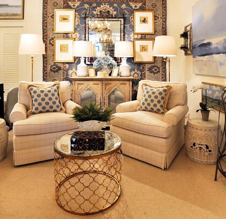 #livingroom #furniture #blue #pillows @kelloggfurn Richmond, Va