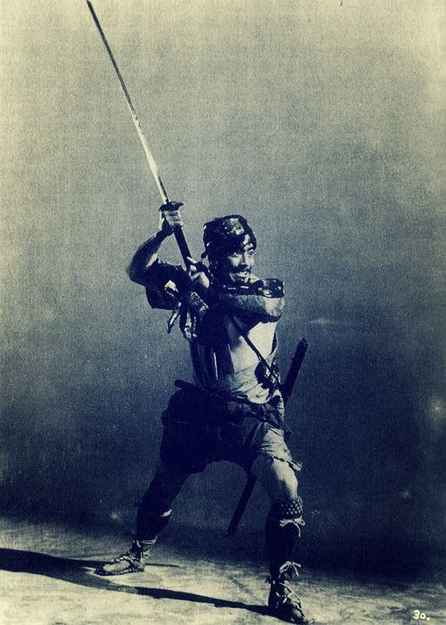 """Toshirō Mifune as Kikuchiyo in Seven Samurai, aka 七人の侍 (1954)"""