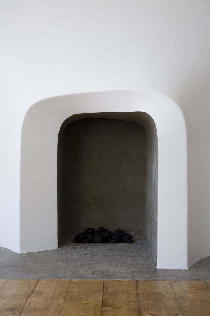 curvaceous fireplace