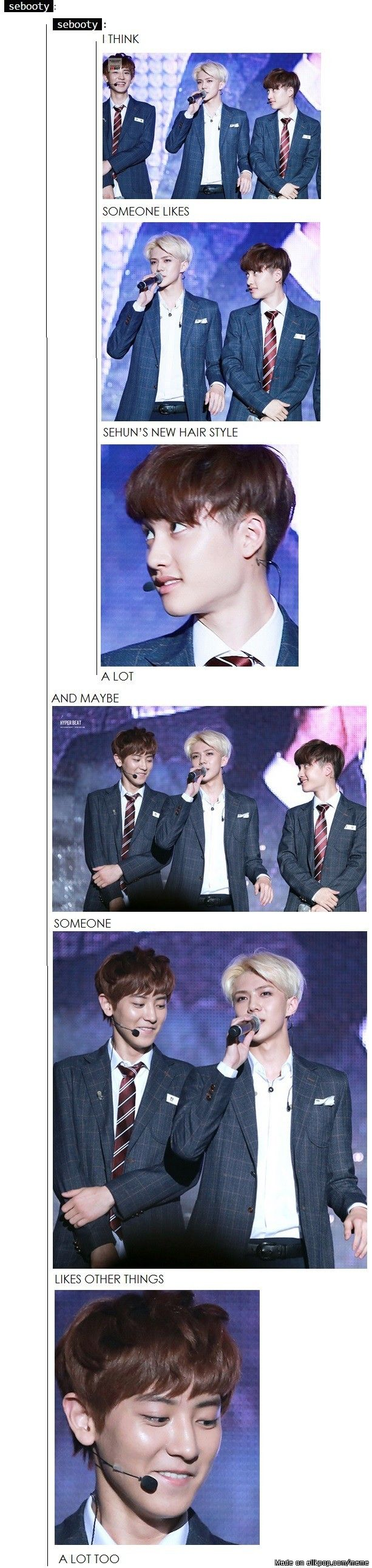 XD but Chanyeol only likes Baekhyuns 'things' and D.O only Kai yeah