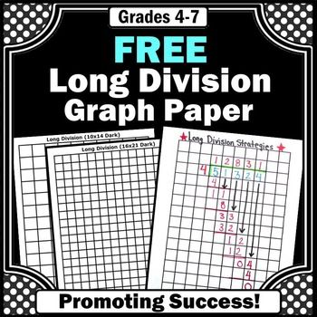 Division: Free Download - Graph paper is an essential strategy for teaching beginning long division to students.  --------------------------You may also like this long division anchor chart poster:Long Division Printable PosterYou may also like these division activities:Divisibility Rules Activity PacketDivisibility Rules Task CardsDivisibility Rules PostersLong Division Task Cards 2-6 Digits by 1 Digit  with RemaindersLong Division Task Cards 2-3 Digits by 1 Digit without RemaindersLong…
