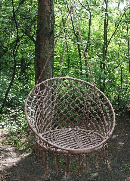 Плетем круглое кресло-гамак своими руками                                                                                                                                                      Plus