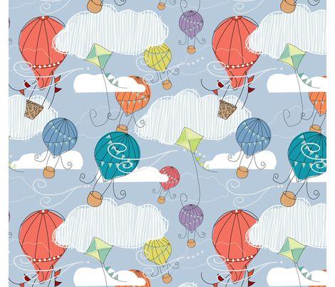 HotAirBalloons fabric by cbronsky on Spoonflower - custom fabric